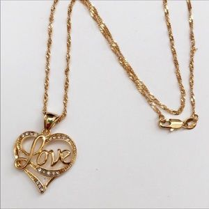 New 18K gold plated love necklace